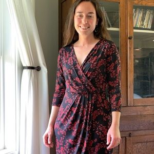 Tahari Draped Stretch Pullover Dress, Size 4